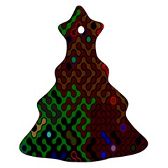 Psychedelic Abstract Swirl Christmas Tree Ornament (Two Sides)