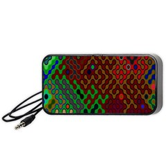 Psychedelic Abstract Swirl Portable Speaker (Black)