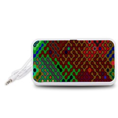 Psychedelic Abstract Swirl Portable Speaker (White)