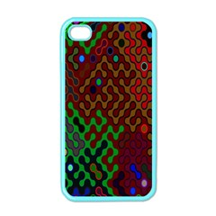 Psychedelic Abstract Swirl Apple iPhone 4 Case (Color)
