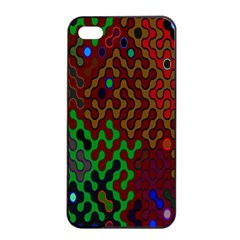 Psychedelic Abstract Swirl Apple iPhone 4/4s Seamless Case (Black)