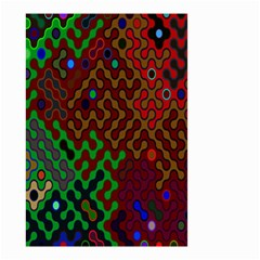 Psychedelic Abstract Swirl Small Garden Flag (two Sides)