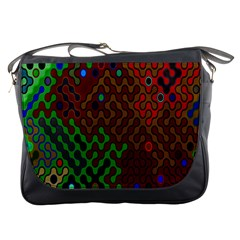 Psychedelic Abstract Swirl Messenger Bags
