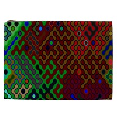 Psychedelic Abstract Swirl Cosmetic Bag (XXL)