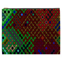 Psychedelic Abstract Swirl Cosmetic Bag (XXXL)