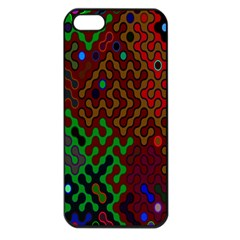 Psychedelic Abstract Swirl Apple Iphone 5 Seamless Case (black)