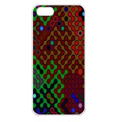 Psychedelic Abstract Swirl Apple Iphone 5 Seamless Case (white)