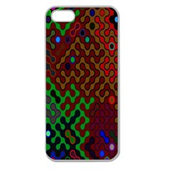 Psychedelic Abstract Swirl Apple Seamless Iphone 5 Case (clear)