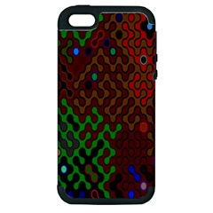 Psychedelic Abstract Swirl Apple Iphone 5 Hardshell Case (pc+silicone)