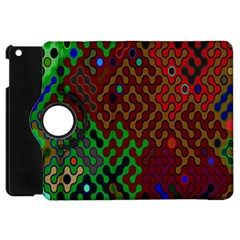 Psychedelic Abstract Swirl Apple Ipad Mini Flip 360 Case