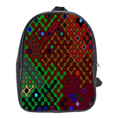 Psychedelic Abstract Swirl School Bags (XL)