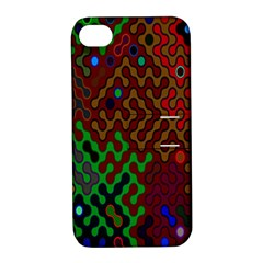 Psychedelic Abstract Swirl Apple Iphone 4/4s Hardshell Case With Stand