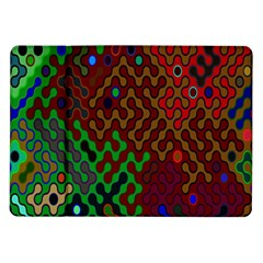 Psychedelic Abstract Swirl Samsung Galaxy Tab 10 1  P7500 Flip Case