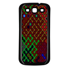 Psychedelic Abstract Swirl Samsung Galaxy S3 Back Case (black)