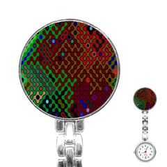 Psychedelic Abstract Swirl Stainless Steel Nurses Watch