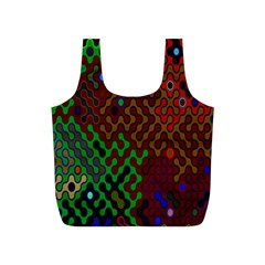 Psychedelic Abstract Swirl Full Print Recycle Bags (s)