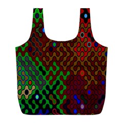 Psychedelic Abstract Swirl Full Print Recycle Bags (l)