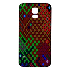 Psychedelic Abstract Swirl Samsung Galaxy S5 Back Case (white)