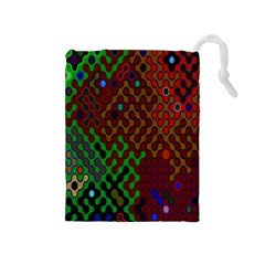 Psychedelic Abstract Swirl Drawstring Pouches (medium)
