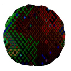 Psychedelic Abstract Swirl Large 18  Premium Flano Round Cushions