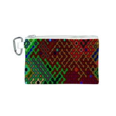 Psychedelic Abstract Swirl Canvas Cosmetic Bag (s)