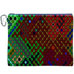 Psychedelic Abstract Swirl Canvas Cosmetic Bag (xxxl)