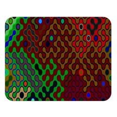 Psychedelic Abstract Swirl Double Sided Flano Blanket (large)