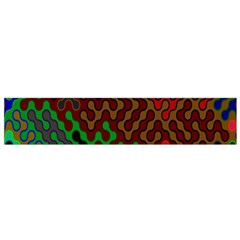 Psychedelic Abstract Swirl Flano Scarf (Small)