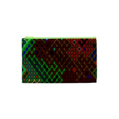 Psychedelic Abstract Swirl Cosmetic Bag (xs)