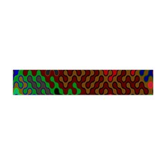 Psychedelic Abstract Swirl Flano Scarf (mini)