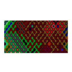 Psychedelic Abstract Swirl Satin Wrap