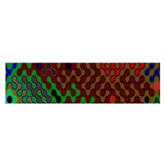 Psychedelic Abstract Swirl Satin Scarf (Oblong)