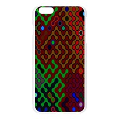 Psychedelic Abstract Swirl Apple Seamless iPhone 6 Plus/6S Plus Case (Transparent)