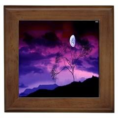 Purple Sky Framed Tiles