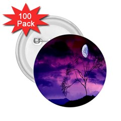 Purple Sky 2.25  Buttons (100 pack)