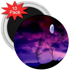 Purple Sky 3  Magnets (10 pack)