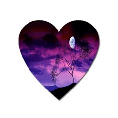 Purple Sky Heart Magnet