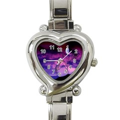 Purple Sky Heart Italian Charm Watch