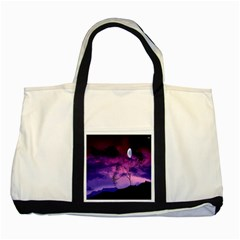 Purple Sky Two Tone Tote Bag