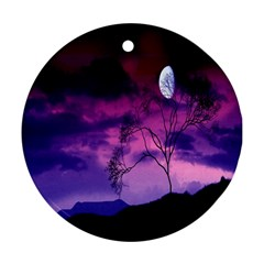 Purple Sky Round Ornament (Two Sides)