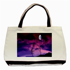 Purple Sky Basic Tote Bag (Two Sides)