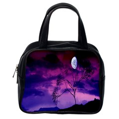 Purple Sky Classic Handbags (one Side)