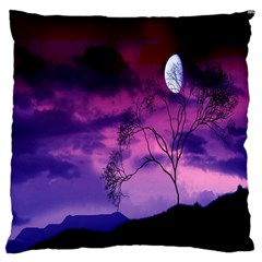 Purple Sky Large Cushion Case (Two Sides)