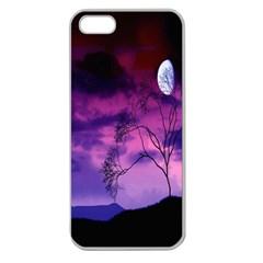 Purple Sky Apple Seamless Iphone 5 Case (clear)