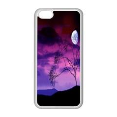 Purple Sky Apple Iphone 5c Seamless Case (white)