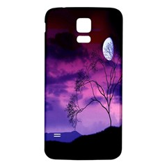 Purple Sky Samsung Galaxy S5 Back Case (white)
