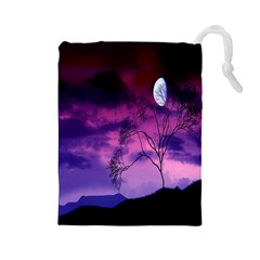 Purple Sky Drawstring Pouches (large)