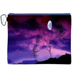 Purple Sky Canvas Cosmetic Bag (xxxl)
