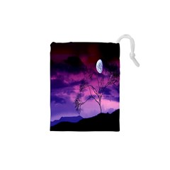Purple Sky Drawstring Pouches (XS)