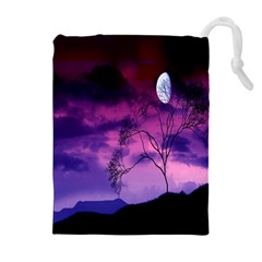 Purple Sky Drawstring Pouches (extra Large)